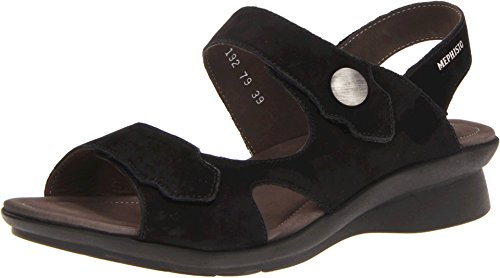 - Mephisto Womens prudy Sandal Black Bucksoft Size 8