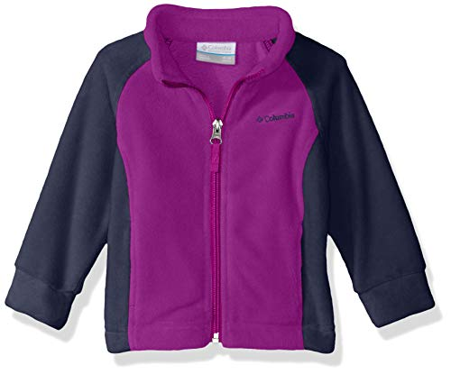 Columbia Unisex Baby Infant Benton Springs Fleece, Bright Plum/Nocturnal 3/6 ()