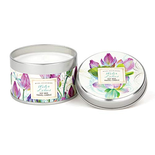 - Michel Design Works Soy Wax Candle in Travel Tin Size, Water Lilies