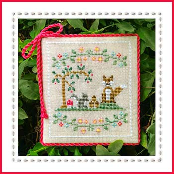 Welcome to The Forest 6 - Forest Fox and Friends Cross Stitch Chart and Free Embellishment