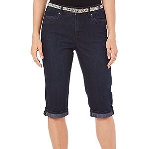 Gloria Vanderbilt Womens Marnie Denim Shorts 10 Preston blue