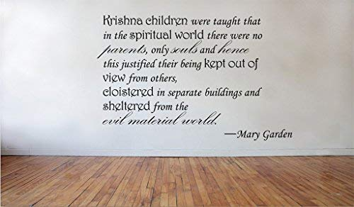 Personalized Vinyl Stickers Krishna children Mary Garden removable Vinyl Wall Decal Home Decor ()