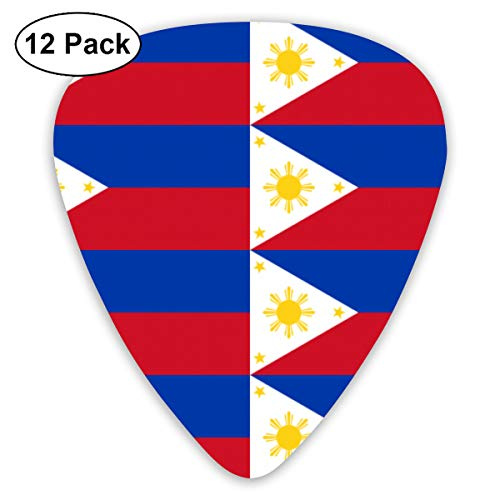 HAIDILUN Flag of The Philippines Guitar Picks Plectrums Acoustic Guitar Ukulele Picks 0.46 Mm, 0.73mm, 0.96 Mm,12 Pack (Best Ukulele Brand In The Philippines)