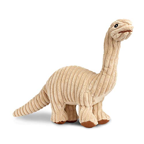 Rocco & Roxie Plush Squeak Toy for Dogs - Cute Dinosaur Shapes (Choose Brontosaurus, Triceratops, or T-Rex) (Brontosaurus)