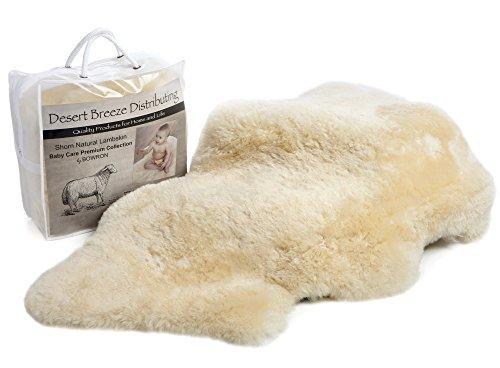 Classic New Zealand Sheepskin Baby Rug, 100% Natural, Washable, Silky Soft Short Wool, Medium Size, Oeko-Tex and Woolmark Certified, Made in New Zealand