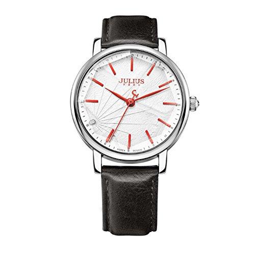 Mirror stereo cutting ladies watch/ dial leather strap quartz watch-G