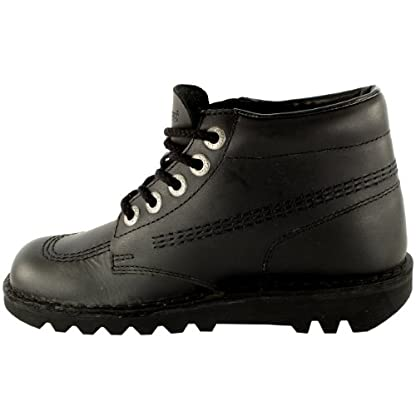 Mens Kickers Kick Hi Leather Classic Lace Up Office Work Boots Shoes 4
