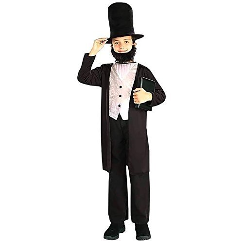 Plus Size Barbie Costumes (Forum Novelties Abraham Lincoln Child Halloween Costume Small (4-6))