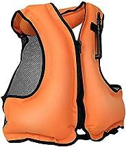 Adult Snorkel Vest Inflatable Men Women Swimming Jacket Water Sports Life Jacket for Snorkeling Swim Surfing