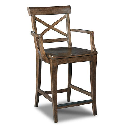 Hooker Furniture Rob Roy 24'' Counter Stool in Medium Wood by Hooker Furniture