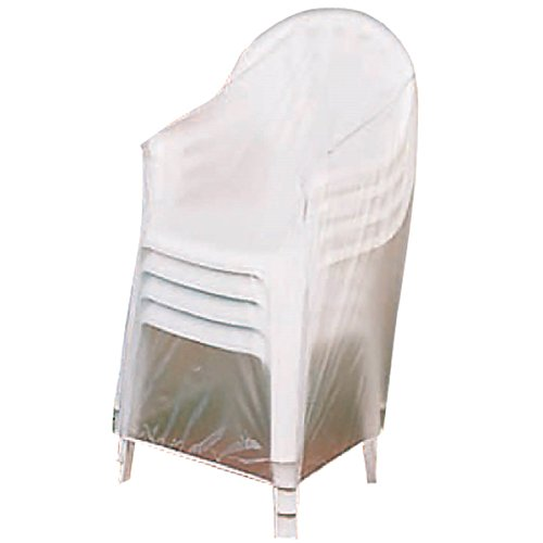 "Patio Stackable Chairs Cover - Clear - 24"" L x 24"" W x 35"" H (Cheap Outside Chairs)"