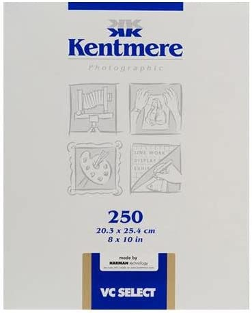 Kentmere VC Select 250 Sheets Variable Contrast Medium Weight RC Glossy Paper 8x10
