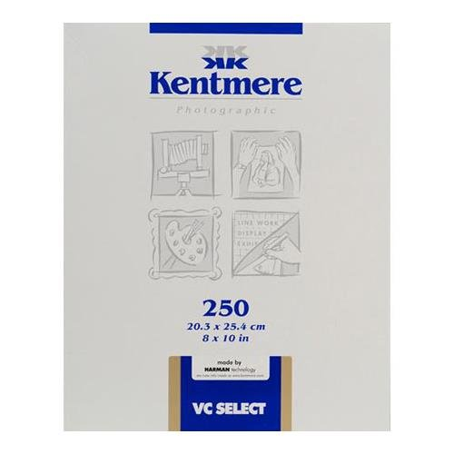 Kentmere VC Select, Variable Contrast Medium Weight RC Fine Lustre Paper, 8x10'', 250 Sheets by Kentmere