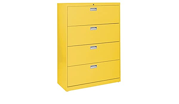 Amazon.com: Sandusky Lee LF6A364-EY 600 Series 4 Drawer Lateral File Cabinet, 19.25
