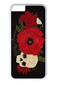 iPhone 6 Case, Personalized Unique Design Covers for iPhone 6 PC White Case - Skull Rouse