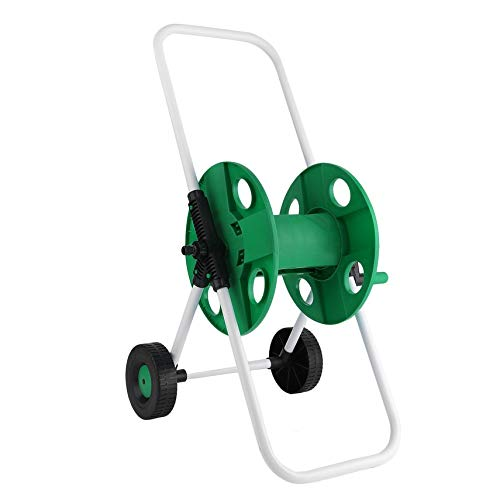 Serendipityy Portable Garden Water Pipe Holder Garden Hose Reels Cart Hose Pipe Storage Holder Trolley Washing Cart with 2 Wheels