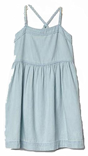 Gap Kids Girls Blue Chambray Cross Back Sun Dress XXL 14-16 (Gap Blue Dress)
