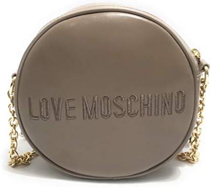 Moschino Borsa donna Love tracolla rotonda in ecopelle trapuntata grigio B21MO35