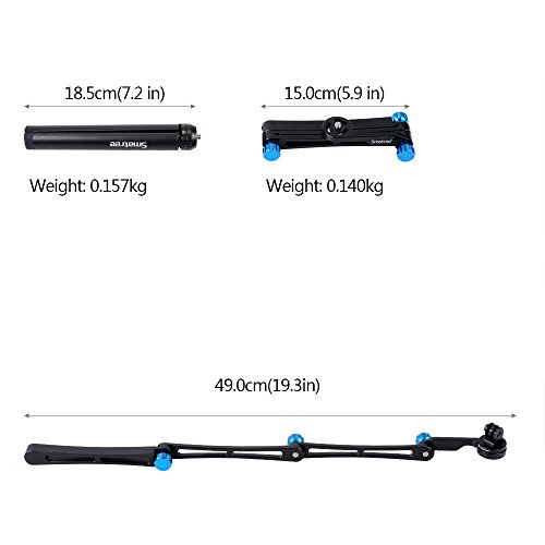 Smatree 3 way Foldable Pole/Monopod for GoPro Hero Fusion/6/5/4/3+/3/Session/GOPRO HERO 2018,Ricoh Theta S/V,Logitech Webcam C925e C922x C,Action Cameras, Cell Phones,Selfie Stick with Tripod Stand by Smatree (Image #4)