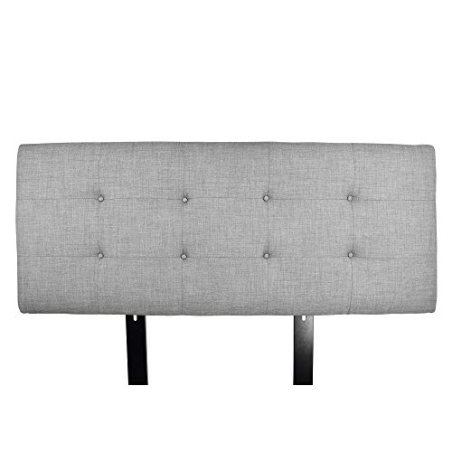MJL Furniture Designs Ali Padded Bedroom Headboard Contemporary Styled Bedroom Décor, HJM100 Series Headboard, Dark Gray Finish, California King Sized, USA ()