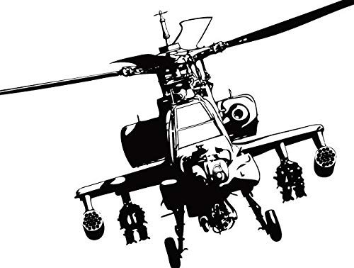 Apache | Decal Vinyl Sticker | Cars Trucks Vans Walls Laptop | Military war plane helicopter enthusiasts Custom