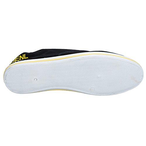 Quiksilver Men's Foundation Canvas Shoes KRMSL373 negro - Black Yellow