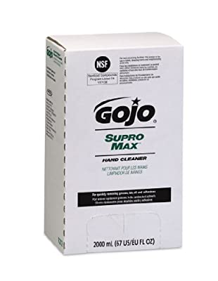 GOJO PRO TDX SUPRO MAX Hand Cleaner, 2000mL Heavy Duty Hand Cleaner Refill for GOJO PRO TDX Push-Style Dispenser (Case of 4) - 7272-04