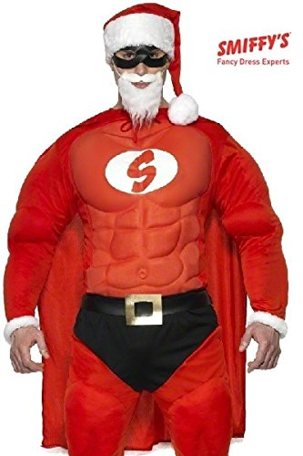 Muscle Santa Costume (Super Santa Costume For Men With Muscle L)