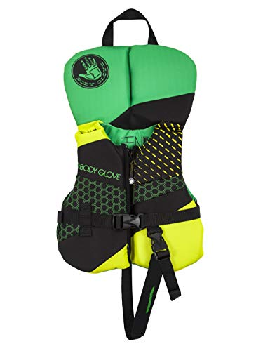 Body Glove 18224I-GRNLIM Phantom PFD Life Vest - USCGA Approved Green-Lime, Green/Lime