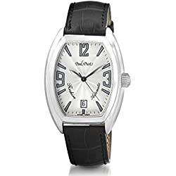 Paul Picot Firshire Automatic 2000 Stainless Steel Mens Luxury Strap Watch Calendar 4097