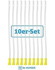 Dr. Wunder® 10 Stück Flexible Einlaufhilfen   weiches Material, runde Spitze & abgerundete Kanten   Länge 40cm, ∅ 6.7mm   universelle Größe für jedes gängige Irrigator- und Einlauf-Set