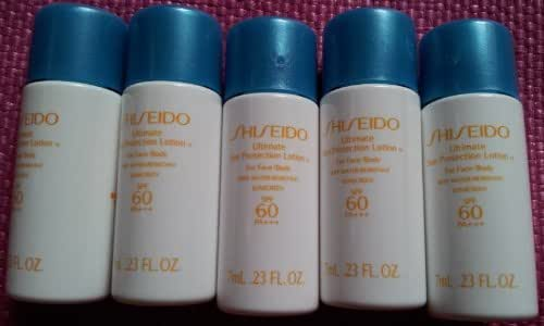 Shiseido Ultimate Sun Protection Lotion SPF 60+ Sunscreen (5 pack of .23 fl oz)