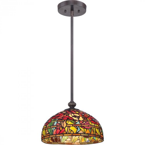 Imperial Bronze Finish Pendants - Quoizel TF1604SIB Tiffany Wild Garden with Imperial Bronze Finish Pendant With 1 Light