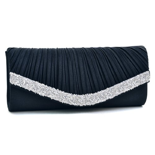 Clutch Women's Handbag Lady Party Crystal Evening Bags Silver - 6