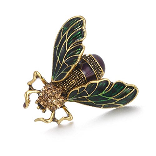 - Botrong® Rhinestone Alloy Gold Cicada Brooches Women Men Crystal Pins Formal (E)