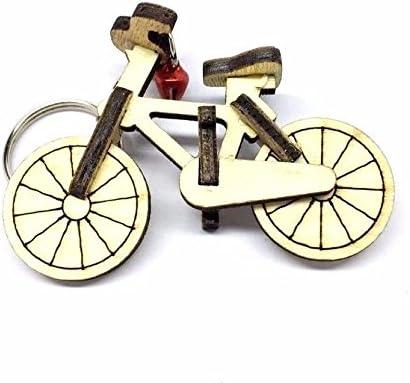 Bicicleta en miniatura madera bicicleta llavero hecho a mano ...