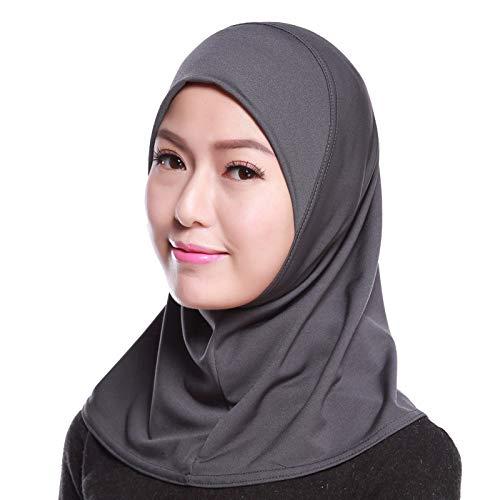 4Pcs Islamic Turban Head Wear Hat Underscarf Hijab Full Cover Muslim Cotton Hijab Cap in 4 Colors (D) by HANYIMIDOO (Image #6)