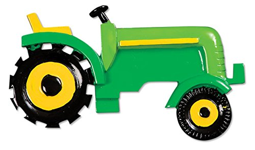 PERSONALIZED CHRISTMAS ORNAMENTS CHILD- GREEN TRACTOR