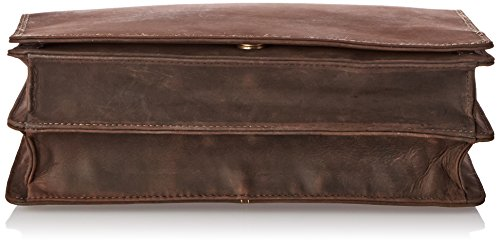 Visconti Harvard Distressed Leather Messenger Bag, Tan, One Size by Visconti (Image #3)
