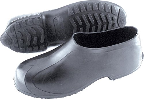 Tingley Men's High Top Work Rubber Stretch Overshoe,Black,L(9.5-11 US Mens ) (Rubber Mens Overshoe)