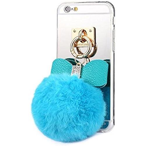 Galaxy S7 Case,Fusicase Cute Rabbit Plush Fur Ball Diamond Bow Bowknot Soft TPU Mirror Back Case Cover For Samsung Galaxy S7 Sales