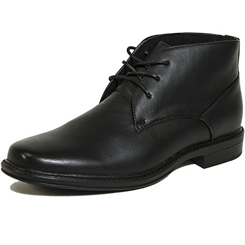Alpine Leather Boot (Alpine Swiss Men's Black Leather Lined Dressy Ankle Boots 10 M US)