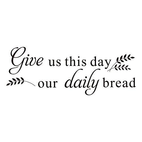 ZSSZ Give us This Day Our Daily Bread - Matthew 6:11 Bible Scripture Christian Quote Wall Decal Vinyl Sayings (Give This Day Us)