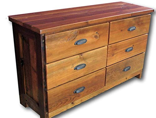- Reclaimed Heart Pine 6 Drawer Dresser