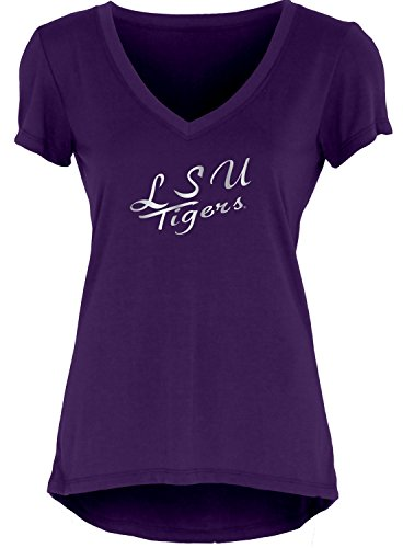 - Blue 84 NCAA Lsu Tigers Women's Liquid Jersey V-Neck, Purple, Medium