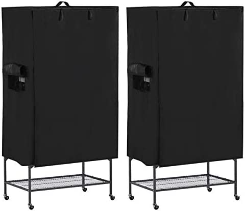 Yaheetech 2 Sets Large Bird Cage Cover Black Good Night Bird Cage Cover w//Mesh Window /& Storage Pocket 41.3in x 27.6in x 48in
