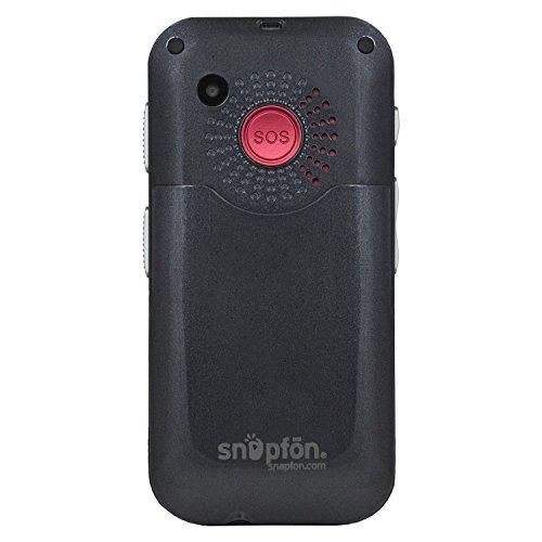 Snapfon ezTWO Senior Unlocked GSM Cell Phone, SOS Button, Hearing Aid Compatible