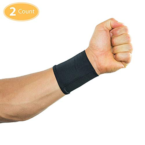 Compression Wrist Sleeves/Supports/Braces Infused With Copper (Pair) | Arthritis | Carpal Tunnel | Sports | Muscle & Joint Pain | Men and Women (Unisex) (Small)