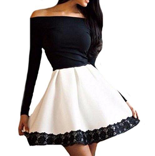 Buy black lace dress china - 6