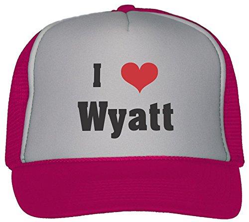 I Love/Heart Wyatt Trucker Hat Cap Hot (Wyatt Mesh)